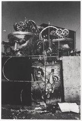 Marius Lauritzen Bern (Brazilian, 1930-2006). <em>[Untitled] (Restos de Carnival) {Carnival Grounds}</em>, 1989. Gelatin silver photograph, image: 13 x 8 3/4 in. (33 x 22.2 cm). Brooklyn Museum, Gift of the artist, 1998.73. © artist or artist's estate (Photo: Brooklyn Museum, 1998.73_PS9.jpg)