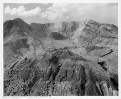 Frank Gohlke (American, born 1942). <em>Aerial View: Looking  South at Mt. St. Helen's Crater and Iowa Dome</em>, 1981, printed later. Gelatin silver photograph, image: 13 x 15 3/4 in. (33 x 40 cm). Brooklyn Museum, Gift of Robert L. Smith and Patricia L. Sawyer, 1999.127.2. © artist or artist's estate (Photo: Brooklyn Museum, 1999.127.2.jpg)
