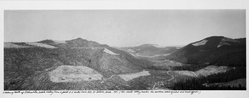 Frank Gohlke (American, born 1942). <em>Looking North Up Clearwater, Creek Valley</em>, 1982. Gelatin silver photograph, image: 6 3/4 x 19 in. (17.1 x 48.3 cm). Brooklyn Museum, Gift of Robert L. Smith and Patricia L. Sawyer, 1999.127.3. © artist or artist's estate (Photo: Brooklyn Museum, 1999.127.3_bw.jpg)