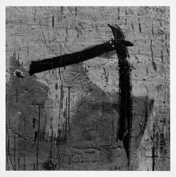 Aaron Siskind (American, 1903-1991). <em>Lima 89 (Homage to Franz Kline)</em>, 1975. Gelatin silver photograph, Image: 14 x 14 in.  (35.6 x 35.6 cm). Brooklyn Museum, Gift of Robert L. Smith and Patricia L. Sawyer, 1999.127.8. © artist or artist's estate (Photo: Brooklyn Museum, 1999.127.8_bw.jpg)