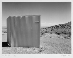 Eddie Dayan (British, born Egypt, 1943). <em>Near Alamogordo, NM</em>, 1992. Gelatin silver photograph, image: 9 5/8 x 12 7/8 in. (24.4 x 32.7 cm). Brooklyn Museum, Gift of the artist, 1999.18.3. © artist or artist's estate (Photo: Brooklyn Museum, 1999.18.3_bw.jpg)