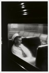 Louis Stettner (American, 1922-2016). <em>Sailor, Penn Station</em>, 1958. Gelatin silver photograph, image: 15 1/2 x 11 1/2 in.  (39.4 x 29.2 cm). Brooklyn Museum, Purchased with funds given by the Horace W. Goldsmith Foundation, Karen B. Cohen, Ardian Gill, and Dr. Joel E. Hershey, 1999.7. © artist or artist's estate (Photo: Brooklyn Museum, 1999.7_PS1.jpg)