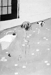 Pierre Bonnard (French, 1867-1947). <em>Le Petit Blanchisseusse</em>, 1896. Lithograph, Image: 11 1/2 x 7 5/8 in.  (29.2 x 19.4 cm). Brooklyn Museum, Gift of Henry and Cheryl Welt, 1999.82.3. © artist or artist's estate (Photo: Brooklyn Museum, 1999.82.3_bw.jpg)