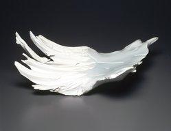 Kato Tsubusa (Japanese, born 1962). <em>[Untitled] (Trapezoidal-shaped Sculpture)</em>, 1997. Porcelain, glaze, 8 3/8 x 18 x 18 5/8 in.  (21.3 x 45.7 x 47.3 cm). Brooklyn Museum, Gift of Lea Sneider, 2000.16. © artist or artist's estate (Photo: Brooklyn Museum, 2000.16_transp4996.jpg)
