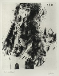 Jack Levine (American, 1915-2010). <em>Hillel</em>, 1963. Etching, Image: 9 3/4 x 7 15/16 in. (24.8 x 20.2 cm). Brooklyn Museum, Gift of the artist, 2000.31.3. © artist or artist's estate (Photo: Brooklyn Museum, 2000.31.3_PS4.jpg)