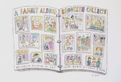 Roz Chast (American, born 1954). <em>Brooklyn Collects</em>, 2001. Ink and watercolor on paper, 9 1/2 x 12 in. (24.1 x 30.5 cm). Brooklyn Museum, A. Augustus Healy Fund, 2001.17.1. © artist or artist's estate (Photo: Brooklyn Museum, 2001.17.1_transp4973.jpg)
