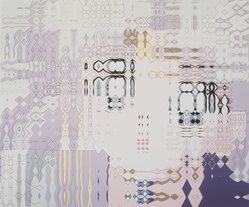 Carl Fudge (British, born 1963). <em>Rhapsody Spray (3)</em>, 2000. Screenprint on paper, 52 1/2 x 62 1/2 in.  (133.4 x 158.8 cm). Brooklyn Museum, Alfred T. White Fund, 2001.66. © artist or artist's estate (Photo: Brooklyn Museum, 2001.66_transp5852.jpg)