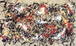 Mike Bidlo (American, born 1953). <em>Convergence</em>, 1983. Oil on canvas, 93 1/4 x 156 in. (236.9 x 396.2 cm). Brooklyn Museum, Gift of Hal Bromm, 2001.86. © artist or artist's estate (Photo: Brooklyn Museum, 2001.86_transp5356.jpg)