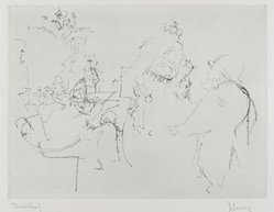 Jack Levine (American, 1915-2010). <em>Victoria's Jubilee</em>, 1963. Soft-ground etching, Image: 8 7/8 x 11 13/16 in. (22.5 x 30 cm). Brooklyn Museum, Gift of the artist, 2002.53.4. © artist or artist's estate (Photo: Brooklyn Museum, 2002.53.4_PS4.jpg)