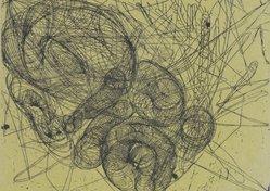 Judy Pfaff (American, born 1946). <em>For Andre</em>, 2002. Letterpress, Sheet: 11 1/2 x 14 3/4 in. (29.2 x 37.5 cm). Brooklyn Museum, Gift of Linda S. Ferber, 2003.38. © artist or artist's estate (Photo: Brooklyn Museum, 2003.38.jpg)