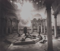Jennette Williams. <em>[Untitled] (Baths, Istanbul, Turkey)</em>, 2002. Platinum print, hand coated, Sheet: 16 x 17 1/2 in. (40.6 x 44.5 cm). Brooklyn Museum, Gift of Jennette Williams, 2003.46. © artist or artist's estate (Photo: Brooklyn Museum, 2003.46.jpg)