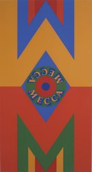 Robert Indiana (American, 1928-2018). <em>Mecca II</em>, 1977. Silkscreen, Sheet: 36 x 25 in. (91.4 x 63.5 cm). Brooklyn Museum, Gift of Helen and Monte Getler, 2003.88.2. © artist or artist's estate (Photo: Brooklyn Museum, 2003.88.2.jpg)