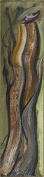 David Alfaro Siqueiros (Mexican, 1896-1974). <em>Arbol Fondo</em>, 1965. Oil on panel, 47 1/2 x 12 in. Brooklyn Museum, Gift of The Beatrice and Samuel A. Seaver Foundation, 2004.30.20. © artist or artist's estate (Photo: Brooklyn Museum, 2004.30.20_PS2.jpg)