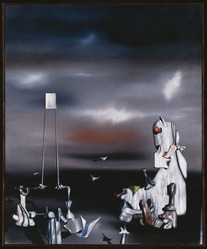 Yves Tanguy (American, born France, 1900-1955). <em>Au Coeur de la Paresse</em>, 1946. Oil on canvas, 39 x 32 in. Brooklyn Museum, Gift of The Beatrice and Samuel A. Seaver Foundation, 2004.30.26. © artist or artist's estate (Photo: , 2004.30.26_SL3.jpg)
