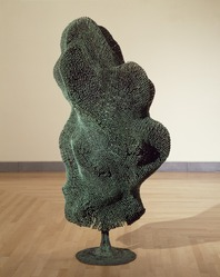Harry Bertoia (American, born Italy, 1915-1978). <em>Bush</em>, early 1960s. Bronze, green patina, 68 × 35 × 19 in. (172.7 × 88.9 × 48.3 cm). Brooklyn Museum, Gift of The Beatrice and Samuel A. Seaver Foundation, 2004.30.3a-b. © artist or artist's estate (Photo: , 2004.30.3a-b_SL3.jpg)