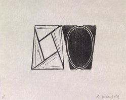 Robert Mangold (American, born 1937). <em>Robert Mangold Prints, 1968-1998 (Original Woodcut)</em>, 2000. Woodcut , 8 11/16 x 10 5/8 in. (22 x 27 cm). Brooklyn Museum, Purchased with Restricted Library Funds from the Brooklyn Museum Library and Alfred T. White Fund, 2004.38.11. © artist or artist's estate (Photo: Brooklyn Museum, 2004.38.11.jpg)
