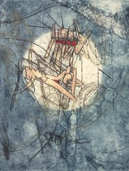 Roberto Matta (Chilean, 1911-2002). <em>Untitled</em>. Etching, plate: 13 1/2 x 10 in. Brooklyn Museum, Gift of The Beatrice and Samuel A. Seaver Foundation, 2004.48.10. © artist or artist's estate (Photo: Brooklyn Museum, 2004.48.10.jpg)