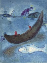 Marc Chagall (French, born Russia, 1887-1985). <em>The Dead Dolphin from Daphnis and Chloe</em>, 1961. Lithograph, 16 1/2 x 12 1/2 in. Brooklyn Museum, Gift of The Beatrice and Samuel A. Seaver Foundation, 2004.48.3. © artist or artist's estate (Photo: Brooklyn Museum, 2004.48.3.jpg)