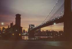 Benjamin Attas (American, born 1921). <em>Brooklyn Bridge [Street Lamp]</em>, 1972. Chromogenic photograph, 9 5/16 x 13 3/4 in. (23.7 x 34.9 cm). Brooklyn Museum, Gift of the artist, 2004.64.1. © artist or artist's estate (Photo: Brooklyn Museum, 2004.64.1.jpg)