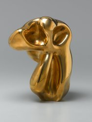 Hans Jean Arp (French, 1887-1966). <em>Evocation d'une forme humaine, lunaraire, spectrale</em>, 1950. Polished bronze, height: 10 1/2 in. (26.7 cm). Brooklyn Museum, Gift of Sylvia and Joseph Slifka, 2004.8.1. © artist or artist's estate (Photo: Brooklyn Museum, 2004.8.1_PS1.jpg)
