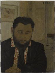 Édouard Vuillard (French, 1868-1940). <em>Portrait of Thadée Natanson</em>, 1897. Oil on cardboard mounted on panel, 20 5/8 x 15 1/2 in. (52.4 x 39.4 cm). Brooklyn Museum, Gift of William Kelly Simpson in honor of Nathan Todd Porter, Jr., 2005.23. © artist or artist's estate (Photo: Brooklyn Museum, 2005.23_PS6.jpg)