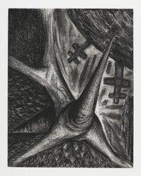 Bill Jensen (American, born 1945). <em>For Denial</em>, 1986-1988. Etching, 24 x 19 in. (61 x 48.3 cm). Brooklyn Museum, Gift of Nancy and Arnold Smoller, 2005.46.5. © artist or artist's estate (Photo: Brooklyn Museum, 2005.46.5_PS2.jpg)