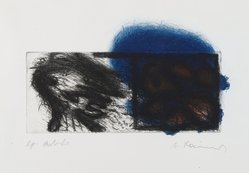 Arnulf Rainer (Austrian, born 1929). <em>Zwei Kopfe  (Two Heads)</em>, 1969. Etching, sheet: 13 15/16 x 14 5/16 in. (35.4 x 36.4 cm). Brooklyn Museum, Gift of Nancy and Arnold Smoller, 2005.46.6. © artist or artist's estate (Photo: Brooklyn Museum, 2005.46.6_PS2.jpg)