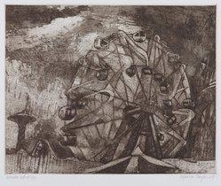 Martha Hayden (American). <em>Wonder Wheel</em>, 2005. Etching, 17 x 15 in. (43.2 x 38.1 cm). Brooklyn Museum, Gift of Stephen A. Fredericks, 2006.30.2. © artist or artist's estate (Photo: Brooklyn Museum, 2006.30.2_PS9.jpg)