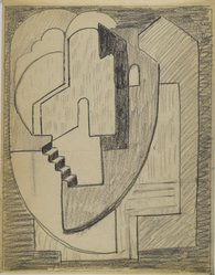 Blanche Lazzell (American, 1879-1956). <em>Sketch for Abstract Composition</em>, 1924. Graphite on cream, thin, smooth paper., Sheet: 10 5/8 x 8 1/4 in. (27 x 21 cm). Brooklyn Museum, Gift of Dr. Abram Kanof and Theodore Keel, by exchange, Charles Stewart Smith Memorial Fund, and Dick S. Ramsay Fund, 2006.43.5. © artist or artist's estate (Photo: Brooklyn Museum, 2006.43.5_PS3.jpg)