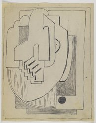 Blanche Lazzell (American, 1879-1956). <em>Sketch for Abstract Composition</em>, 1924. Graphite on cream, thin, smooth paper., Sheet: 10 13/16 x 8 1/2 in. (27.5 x 21.6 cm). Brooklyn Museum, Gift of Dr. Abram Kanof and Theodore Keel, by exchange, Charles Stewart Smith Memorial Fund, and Dick S. Ramsay Fund, 2006.43.8. © artist or artist's estate (Photo: Brooklyn Museum, 2006.43.8_PS3.jpg)