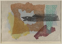 Shinagawa Takumi (Japanese, 1908-2009). <em>Denizen of the Lake Depths</em>, 1957. Color woodblock print on paper, Sheet: 13 1/4 x 18 in. (33.7 x 45.7 cm). Brooklyn Museum, Gift of the Estate of Dr. Eleanor Z. Wallace, 2007.32.106. © artist or artist's estate (Photo: Brooklyn Museum, 2007.32.106_IMLS_PS4.jpg)
