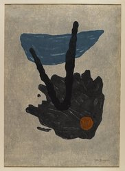 Yamaguchi Gen (Japanese, 1903-1976). <em>Retribution</em>, 1960. Woodblock print, Other (Sight): 25 3/4 x 18 9/16 in. (65.4 x 47.1 cm). Brooklyn Museum, Gift of the Estate of Dr. Eleanor Z. Wallace, 2007.32.133. © artist or artist's estate (Photo: Brooklyn Museum, 2007.32.133_IMLS_PS4.jpg)