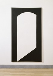 Leon Polk Smith (American, 1906-1996). <em>Correspondence Black-White</em>, 1967. Acrylic on canvas, 90 x 50 in. Brooklyn Museum, Bequest of Leon Polk Smith, 2011.12.7. © artist or artist's estate (Photo: , 2011.12.7_SL3.jpg)