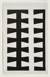 Leon Polk Smith (American, 1906-1996). <em>Untitled</em>, 1953. Ink or opaque watercolor on painted paper, 40 3/4 × 25 3/4 in. (103.5 × 65.4 cm). Brooklyn Museum, Bequest of Leon Polk Smith, 2011.27.2. © artist or artist's estate (Photo: , 2011.27.2_SL3.jpg)