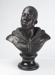 Kehinde Wiley (American, born 1977). <em>Houdon Paul-Louis</em>, 2011. Bronze with polished stone base, 34 x 26 x 19 in. (86.4 x 66 x 48.3 cm). Brooklyn Museum, Frank L. Babbott Fund and A. Augustus Healy Fund, 2012.51. © artist or artist's estate (Photo: Brooklyn Museum, 2012.51_front_PS9.jpg)