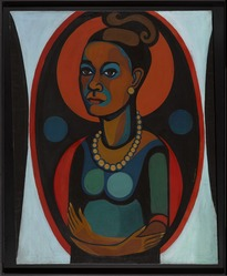 Faith Ringgold (American, born 1930). <em>Early Works #25: Self-Portrait</em>, 1965. Oil on canvas, 50 × 40 in. (127 × 101.6 cm). Brooklyn Museum, Gift of Elizabeth A. Sackler, 2013.96. © artist or artist's estate (Photo: Brooklyn Museum, 2013.96_PS9.jpg)