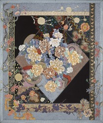 Miriam Schapiro (American, 1923-2015). <em>Tapestry of Paradise</em>, 1980. Acrylic and collage on canvas, 60 1/8 × 50 1/16 × 2 in. (152.7 × 127.2 × 5.1 cm). Brooklyn Museum, Gift of Robert Sugar, 2017.16. © artist or artist's estate (Photo: , 2017.16_PS9.jpg)