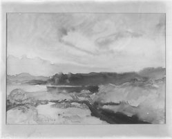 Howard Everett Giles (American, 1876-1955). <em>North Country</em>. Watercolor Brooklyn Museum, Museum Collection Fund, 24.101. © artist or artist's estate (Photo: Brooklyn Museum, 24.101_glass_bw.jpg)