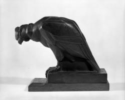 Eugene-Antoine Borga. <em>Vulture</em>. Bronze, Height: 6 1/2 in. (16.5 cm). Brooklyn Museum, Museum Collection Fund, 24.449.1 (Photo: Brooklyn Museum, 24.449.1_bw.jpg)