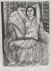 Henri Matisse (French, 1869-1954). <em>L'Odalisque</em>, 1924. Lithograph on laid paper, Image: 14 3/8 x 10 3/8 in. (36.5 x 26.4 cm). Brooklyn Museum, Museum Collection Fund, 25.123. © artist or artist's estate (Photo: Brooklyn Museum, 25.123_PS2.jpg)