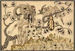 Eugene Dunkel (American, born Russia, 1890-1972). <em>The Secret</em>, ca. 1925. Watercolor, Image: 14 9/16 x 21 7/16 in. (37 x 54.5 cm). Brooklyn Museum, Museum Collection Fund, 25.530. © artist or artist's estate (Photo: , 25.530_SL3.jpg)