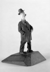 Luis Hidalgo (Mexican, born 1901). <em>Figure of Driver</em>, 20th century. Wax, 7 7/8 x 5 3/8 x 5 1/8 in. (20 x 13.7 x 13 cm). Brooklyn Museum, Museum Collection Fund, 27.655. © artist or artist's estate (Photo: Brooklyn Museum, 27.655_bw.jpg)