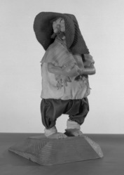 Luis Hidalgo (Mexican, born 1901). <em>Figure of Panchito</em>, 20th century. Wax, 10 1/4 x 5 7/16 x 5 in. (26 x 13.8 x 12.7 cm). Brooklyn Museum, Museum Collection Fund, 27.659. © artist or artist's estate (Photo: Brooklyn Museum, 27.659_acetate_bw.jpg)
