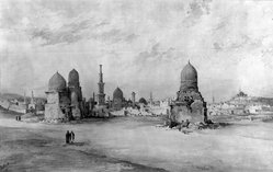 James E. Hind (American). <em>Tombs of the Caliphs</em>, 1891. Watercolor Brooklyn Museum, Bequest of Mary A. Brackett, 28.81 (Photo: Brooklyn Museum, 28.81_glass_bw.jpg)