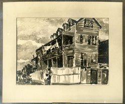 Emily Lansingh Muir (American, 1904-2003). <em>Negro Tenement</em>, ca. 1928-1929. Watercolor, 14 3/4 x 21 in. (37.5 x 53.3 cm). Brooklyn Museum, Museum Collection Fund, 31.138. © artist or artist's estate (Photo: Brooklyn Museum, 31.138_print_bw.jpg)