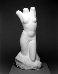 Fritz Hammargren (American, born Sweden, 1892-1968). <em>Torso</em>, early to mid-20th century. Marble, 21 x 11 x 11 in. (53.3 x 27.9 x 27.9 cm). Brooklyn Museum, A. Augustus Healy Fund, 31.815. © artist or artist's estate (Photo: Brooklyn Museum, 31.815_bw.jpg)