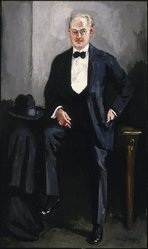 Kees van Dongen (French, born Netherlands, 1877-1968). <em>Portrait of W. S. Davenport</em>, ca. 1925. Oil on canvas, 86 11/16 x 51 9/16 in. (220.2 x 131 cm). Brooklyn Museum, Gift of Mr. and Mrs. William Slocum Davenport, 32.117. © artist or artist's estate (Photo: Brooklyn Museum, 32.117_SL1.jpg)