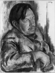 Robert Phillipp (American, 1895-1981). <em>Portrait of E. Palowetzky</em>, 1933. Pastel on paper, 25 5/8 x 19 3/4 in. (65.1 x 50.2 cm). Brooklyn Museum, John B. Woodward Memorial Fund, 33.88. © artist or artist's estate (Photo: Brooklyn Museum, 33.88_acetate_bw.jpg)