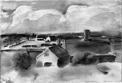 William Zorach (American, born Lithuania, 1887-1966). <em>After the Storm</em>. Watercolor Brooklyn Museum, John B. Woodward Memorial Fund, 33.89. © artist or artist's estate (Photo: Brooklyn Museum, 33.89_acetate_bw.jpg)
