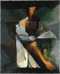 Jacques Villon (French, 1875-1963). <em>The Philosopher (Le Philosophe)</em>, 1930. Oil on canvas, 39 5/8 x 31 7/8in. (100.6 x 81cm). Brooklyn Museum, Gift of Gerda Stein, 34.1000. © artist or artist's estate (Photo: Brooklyn Museum, 34.1000_SL1.jpg)